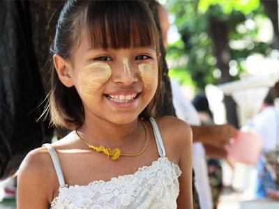 Petite fille à Rangoon