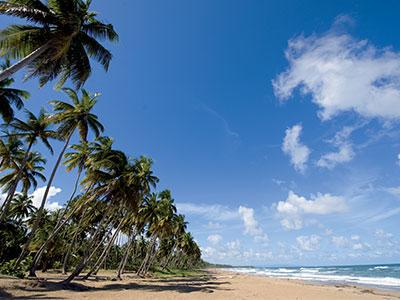 Une plage de sable fin en République Dominicaine