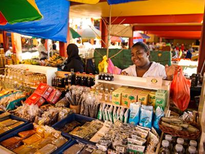 un Marché aux Seychelles sur l'ile de Mahé
