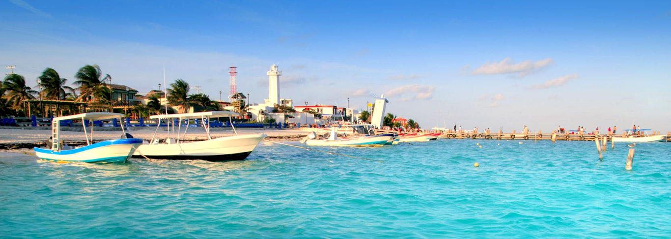 Port de Puerto Morelos au Mexique