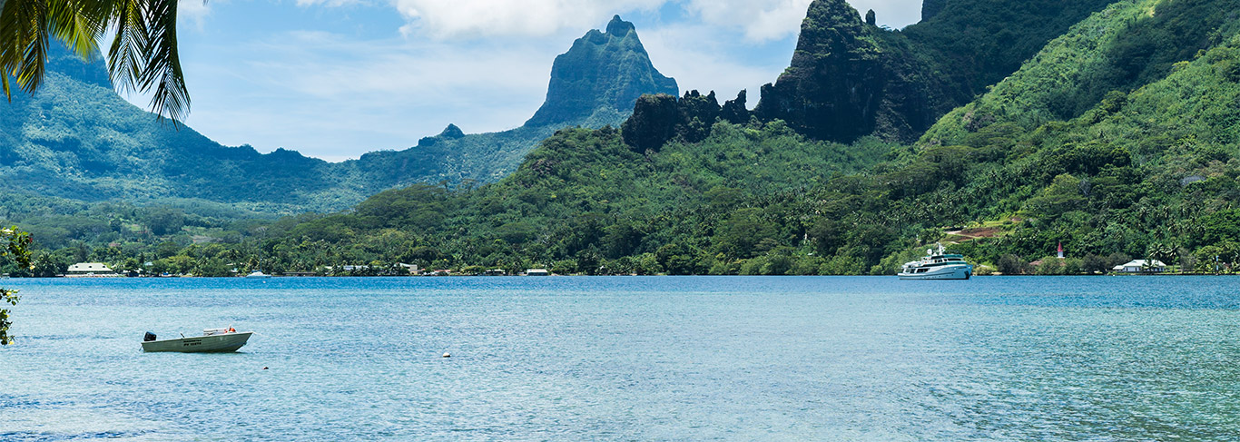 Baie de Moorea en Polynésie