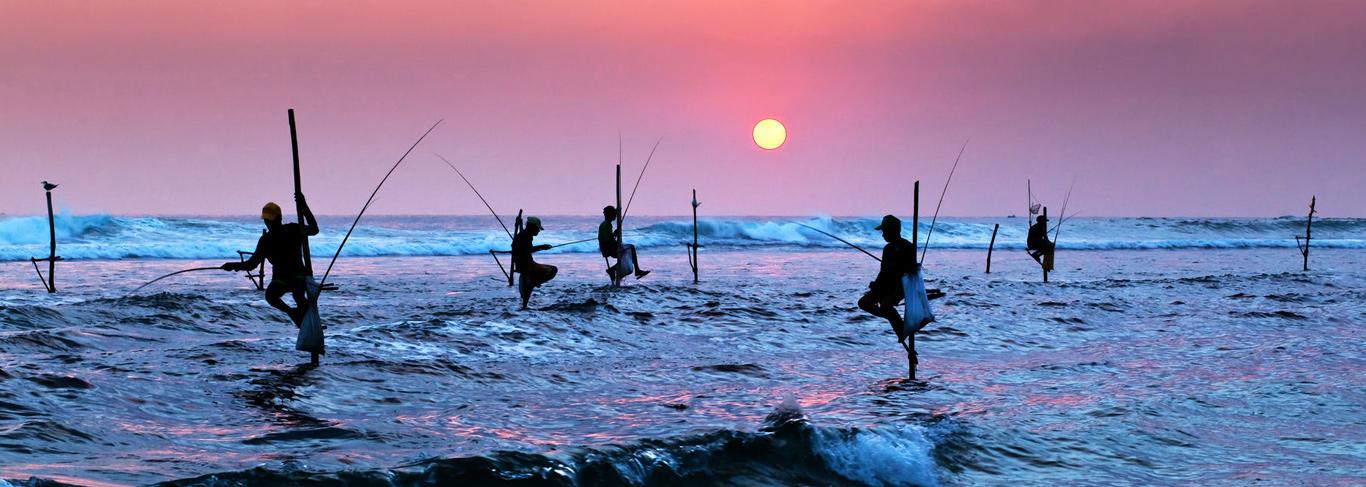Pêcheurs à Galle au Sri Lanka