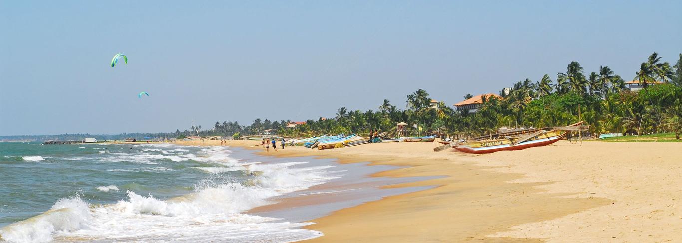 Plage de Negombo au Sri Lanka
