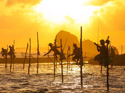 Pêcheur à Galle au Sri Lanka