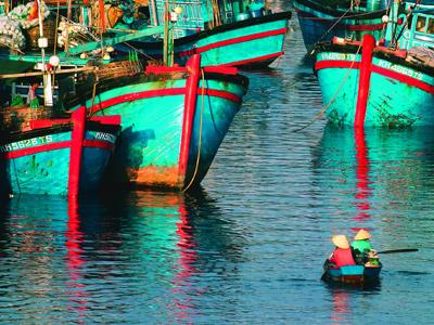 Bateaux de pêche à Phan Thiet