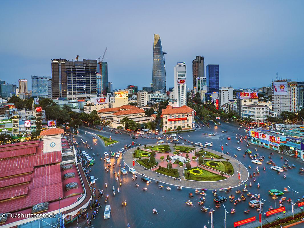 La Poste de Saigon au Vietnam