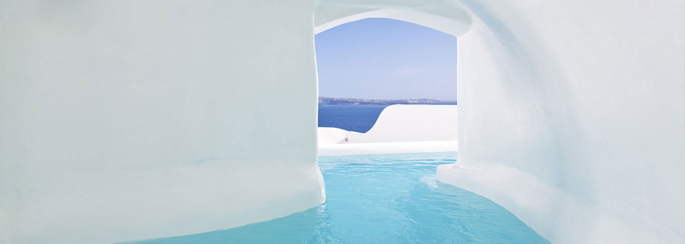 Les piscines privatives du Canaves Oia
