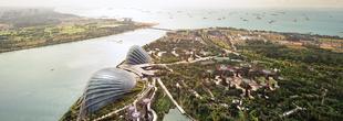 Vue sur la baie de Singapour