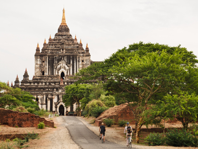 Visite de Bagan à vélo