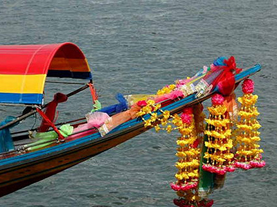 Balade sur les Klongs en long tail boat