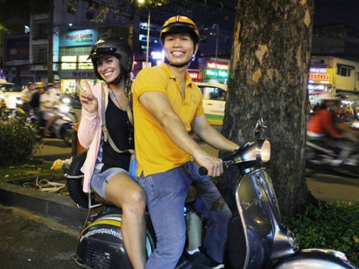 Saigon Vespa by Night