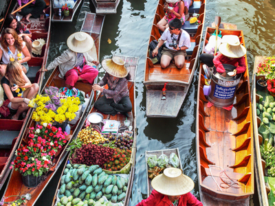 DAMNOEN SADUAK FLOATING MARKET - Tourism Thailand