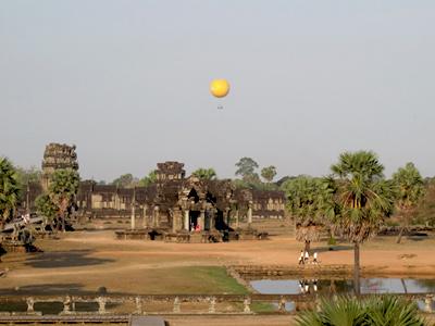 Survol d'Angkor en ballon à Siem Reap