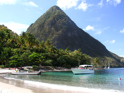 Anse des Pitons (Mark Hodson / Flickr)