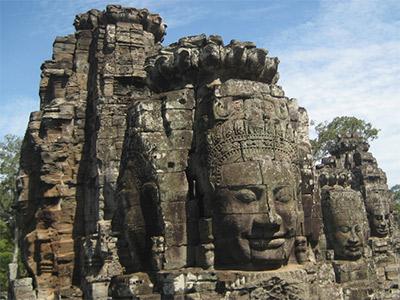 Temple du Bayon à Angkor au Cambodge