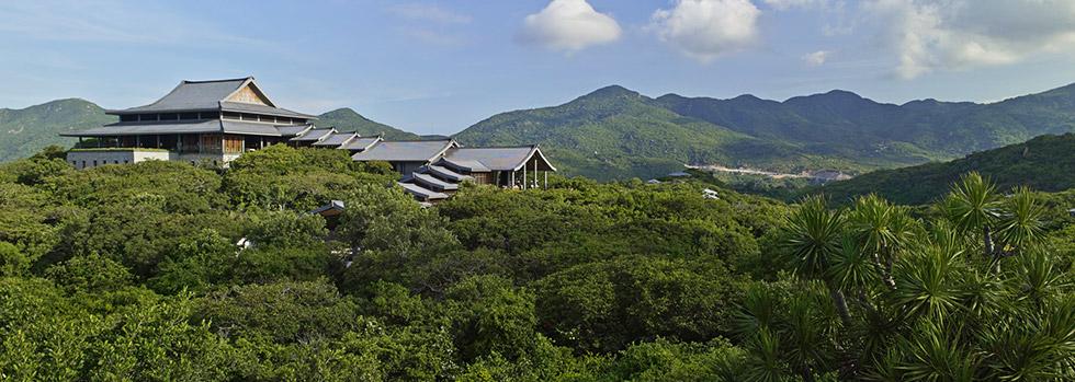 Amanoi au Vietnam - pavillon avec piscine