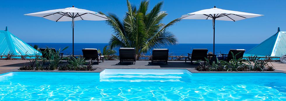 Blue Margouillat Seaview Hôtel, un bel établissement à flanc de collines.