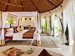 Une des chambres que propose le Banyan Tree Vabbinfaru
