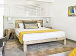 Une des chambres que propose le Zilwa