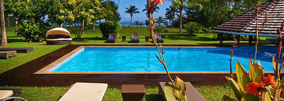 La piscine du Raiatea Lodge Hotel