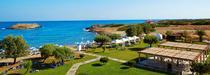 La plage du Grecotel Meli Palace en Crète