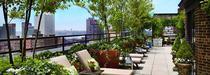 La vue depuis l'hôtel Hudson à New York