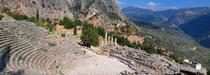 Vue de l'acropole d'Athènes de nuit