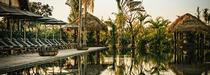 Phum Baitang niché au milieu de jardins luxuriants au Cambodge
