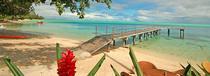 La plage du Mahana Huahine