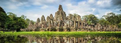Temple Bayon d'Angkor Thom au Cambodge