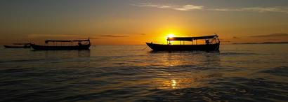 Coucher de soleil à Sihanoukville