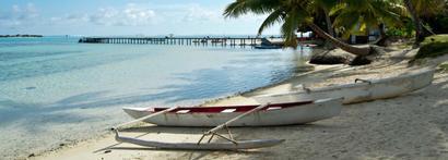 La plage de l'hôtel Tipaniers