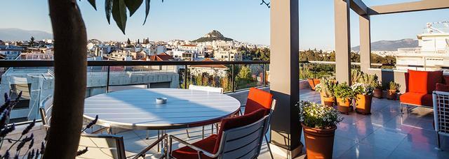 La terrasse de l'Athens Was