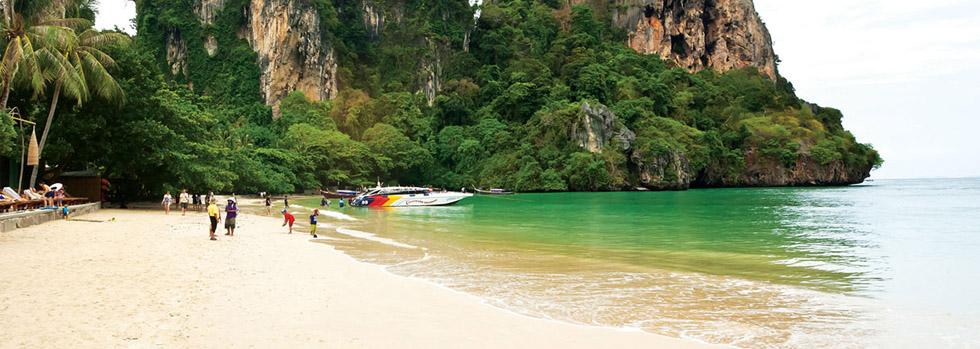 La plage de l'hôtel Railay Bay Resort