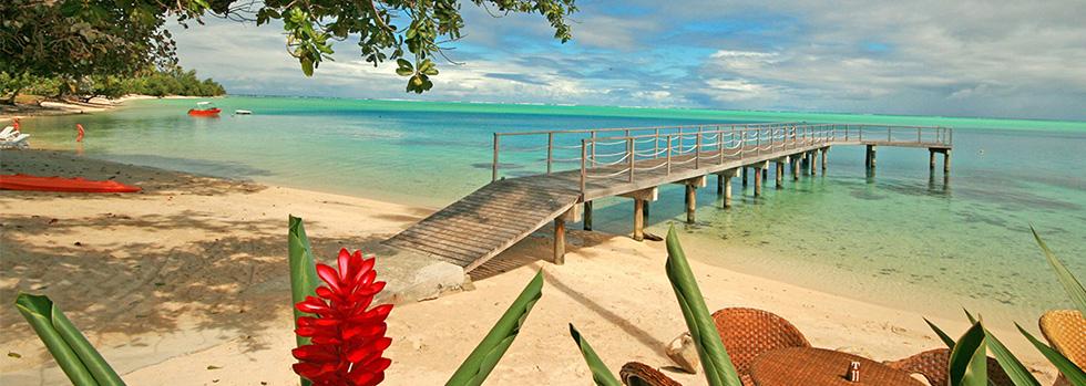La plage du Relais Mahana Huahine