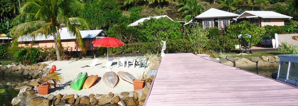 La plage, hotel-tahaa