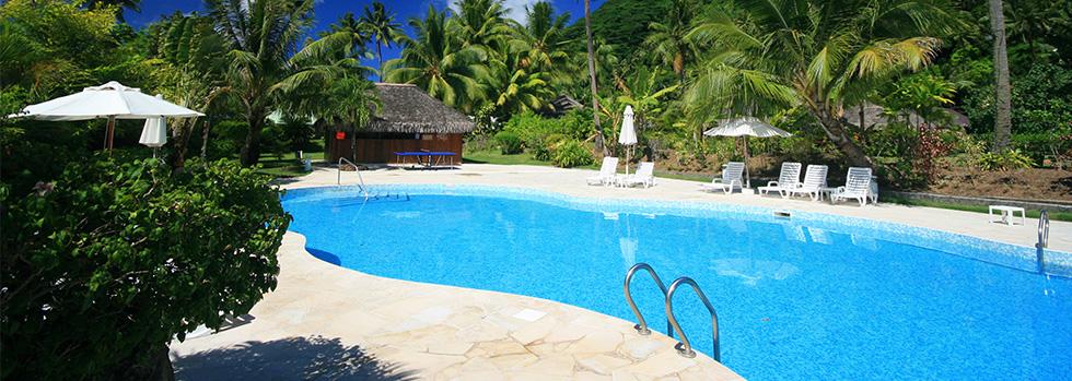 La piscine du Royal Huahine