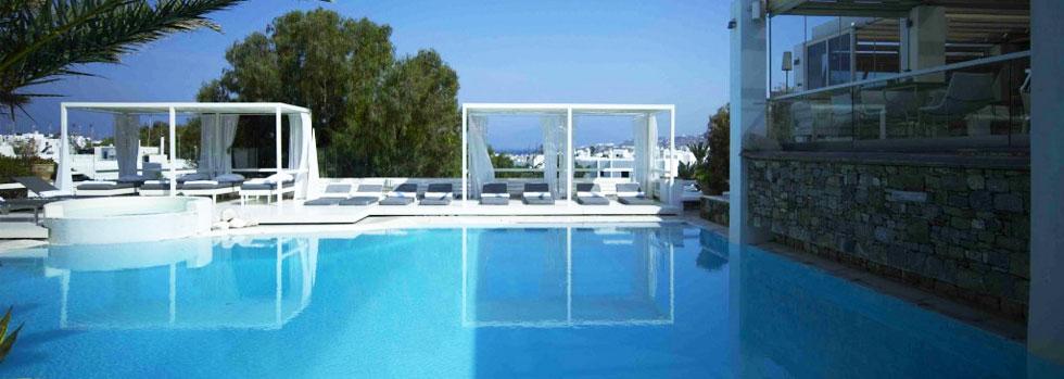 La piscine du Semeli Hotel à Mykonos