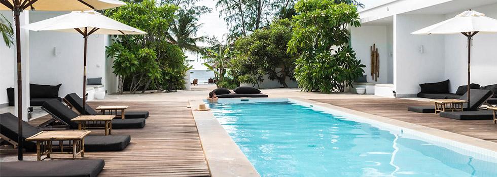 La plage du Tamu Hotel