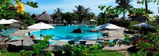 La piscine du Hilton Moorea Lagoon Resort & Spa