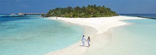 Marchez sur la plage apres un repos au Vilu Reef