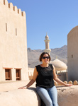 Edith au fort de Nizwa
