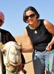 Edith dans le désert à Oman